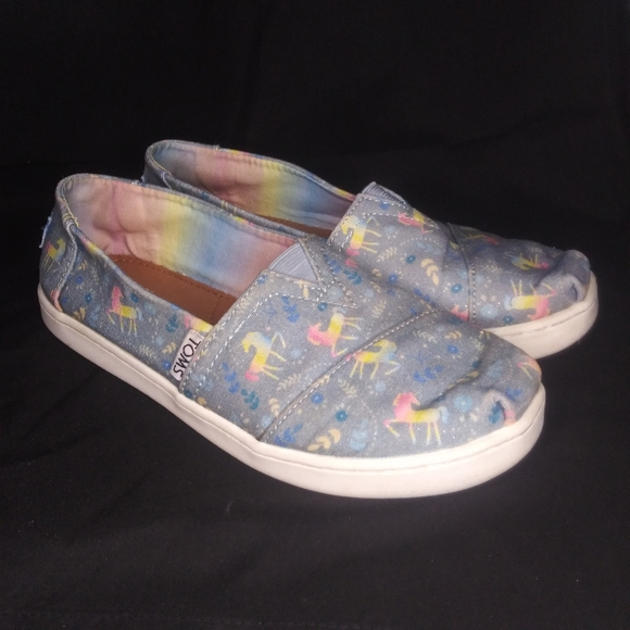 Toms Shoes   Youth Size 3 Unicorns